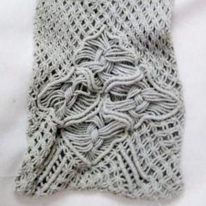 Hippie style crossbody knit shoulder bag hobo